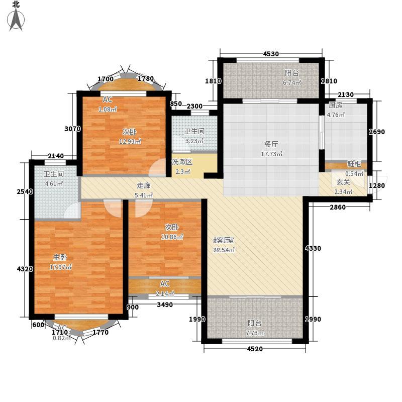 建业森林半岛138.35㎡建业森林半岛D02(3#7#13#)3室2厅2卫1厨138.35㎡户型3室2厅2卫1厨