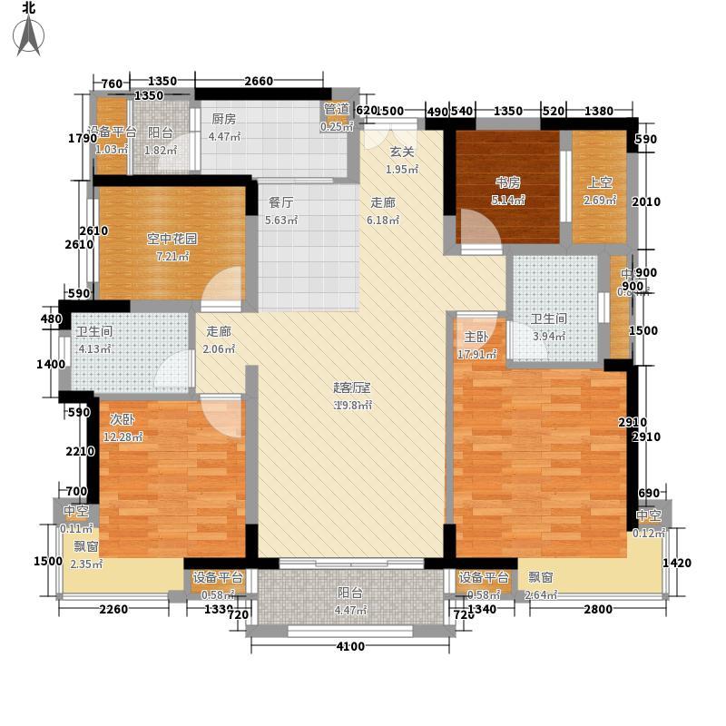欧浦城市花园3座01单元4室户型