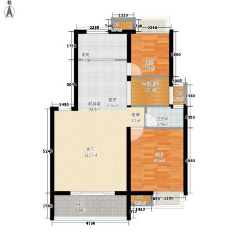 盛通・拂晓2室0厅1卫1厨86.00㎡户型图