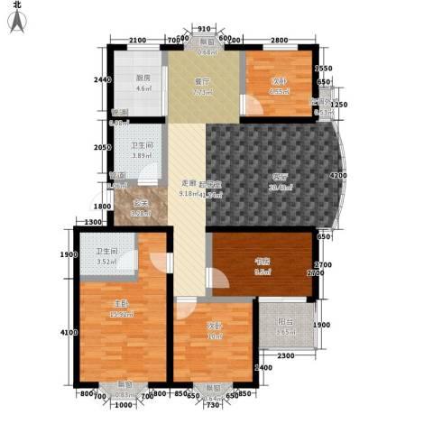 紫溪花园4室0厅2卫1厨142.00㎡户型图