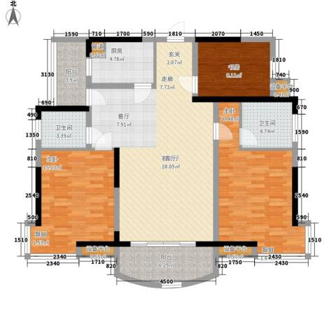 新芙蓉之都3室1厅2卫1厨146.00㎡户型图