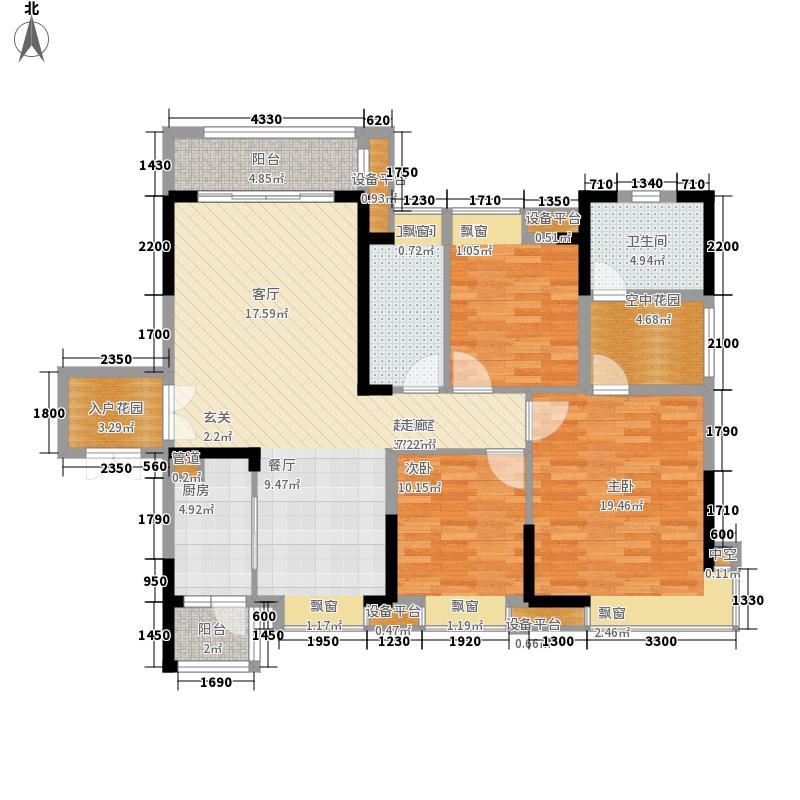 欧浦城市花园4座01单元3室户型