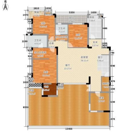 金科天籁城紫园3室0厅2卫1厨236.15㎡户型图