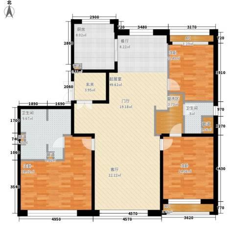 力宝广场・诗礼庭3室0厅2卫1厨175.00㎡户型图