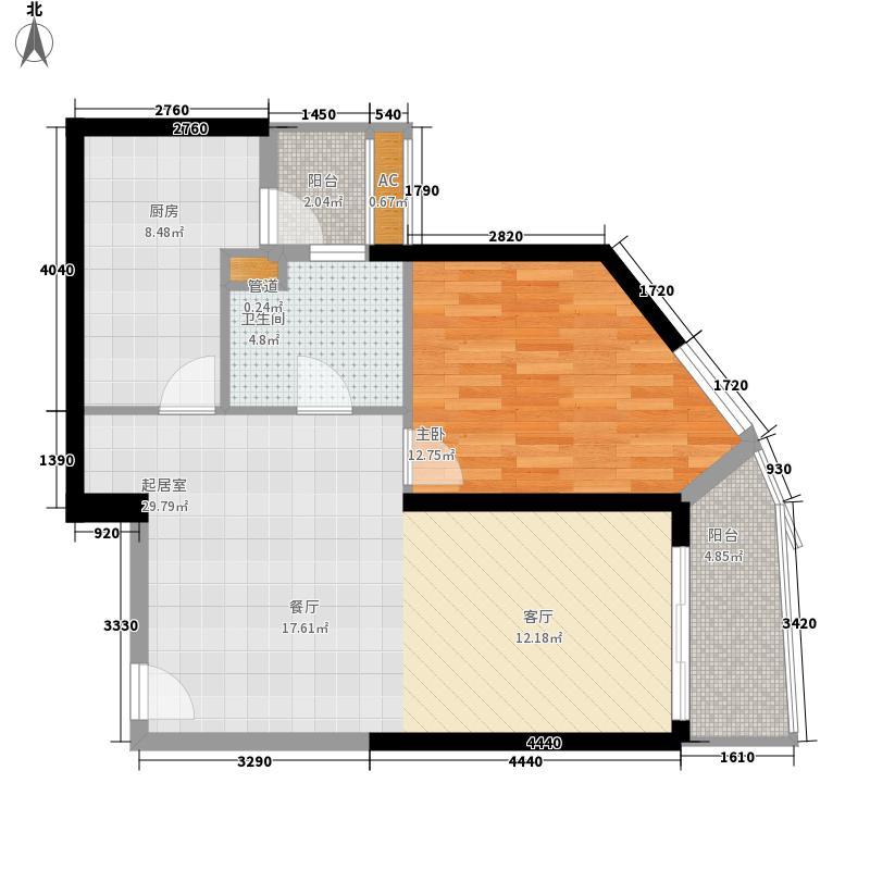 东方曼哈顿尚东区72.00㎡东方曼哈顿尚东区1室户型1室