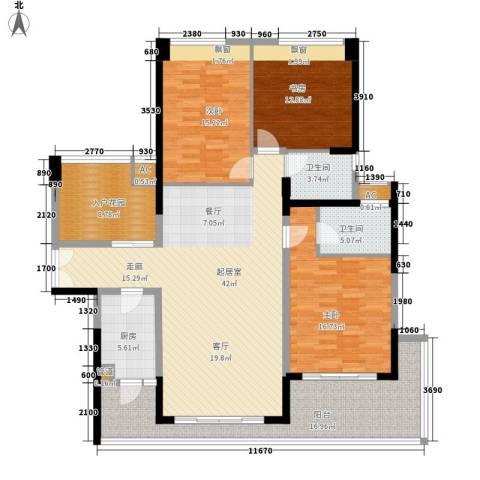 新世界花园叠翠豪庭3室0厅2卫1厨250.00㎡户型图