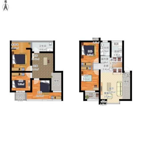 长青湖茶花小镇5室1厅2卫1厨154.00㎡户型图
