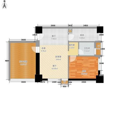 经典华城一期梧桐语1室0厅1卫1厨87.00㎡户型图