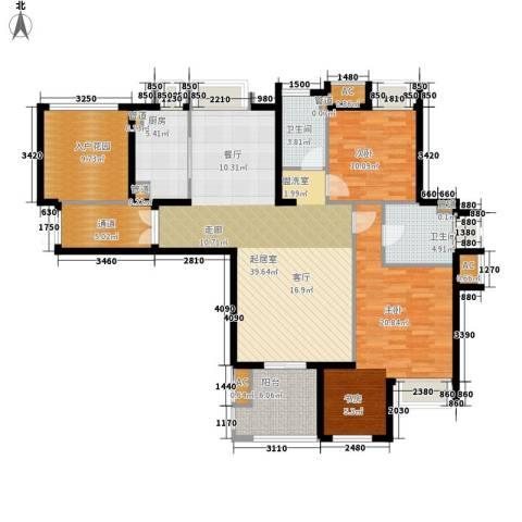 融侨锦江2室0厅2卫1厨123.00㎡户型图