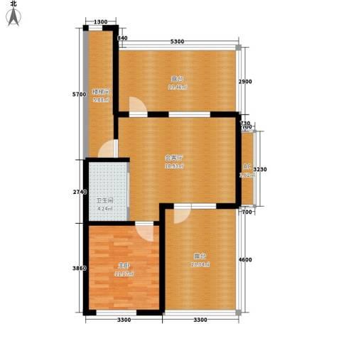 筑石居易1室0厅1卫0厨99.00㎡户型图