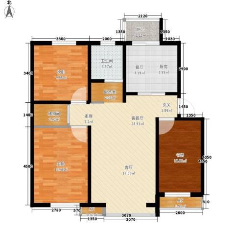 筑石居易3室1厅1卫1厨106.00㎡户型图