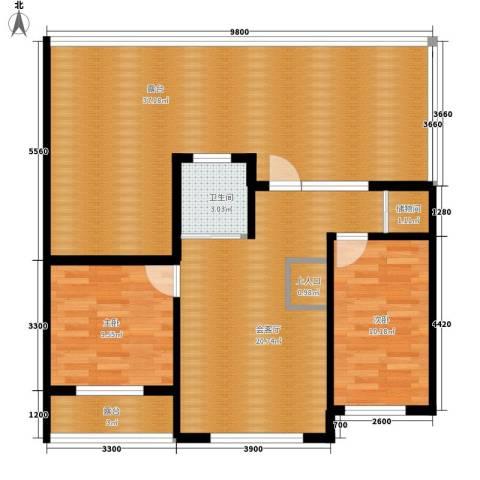 筑石居易2室0厅1卫0厨121.00㎡户型图