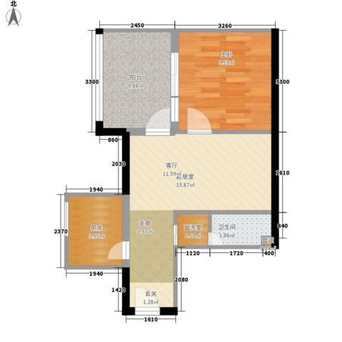 阳光山海湾1室0厅1卫1厨47.00㎡户型图