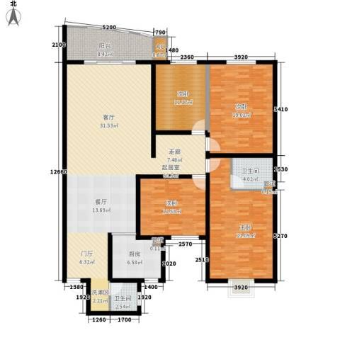 宏轩花苑4室0厅2卫1厨165.00㎡户型图