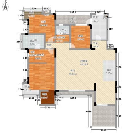 金科天籁城紫园3室0厅2卫1厨160.97㎡户型图