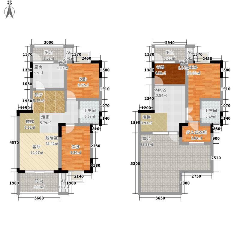 水岸雅居146.92㎡水岸雅居户型图1-2-1跃3室2厅2卫1厨户型3室2厅2卫1厨