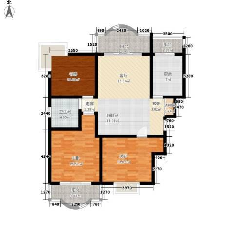 知音艺园3室0厅1卫1厨108.00㎡户型图