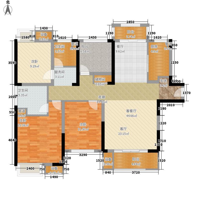 融绿熙园130.00㎡融绿熙园户型图B2户型3室2厅2卫户型3室2厅2卫