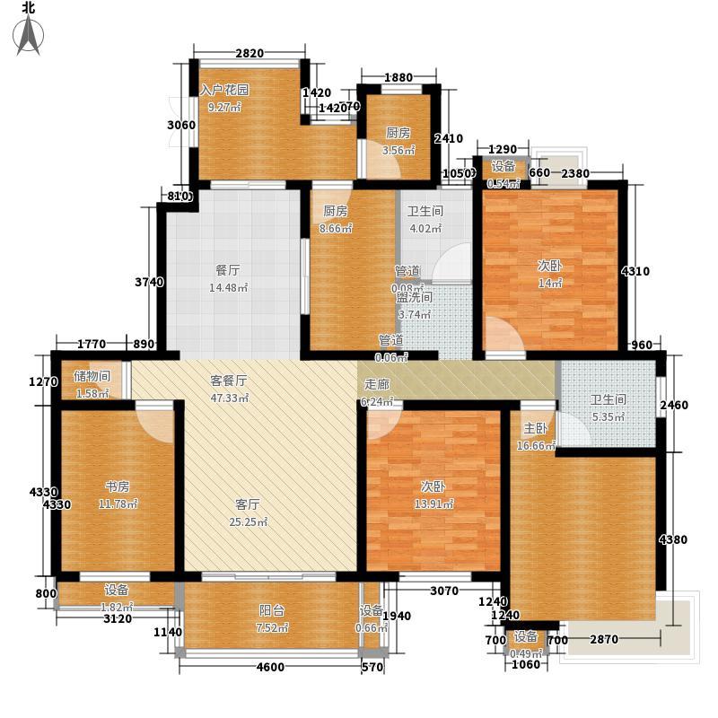 涵碧景苑C户型4室2厅2卫1厨