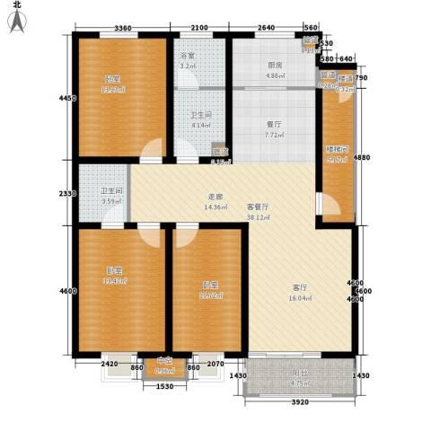 神奇庭院1厅2卫1厨131.00㎡户型图