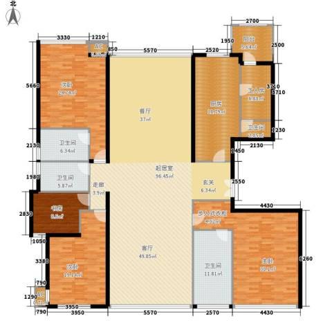 东方曼哈顿尚东区4室0厅4卫1厨256.00㎡户型图
