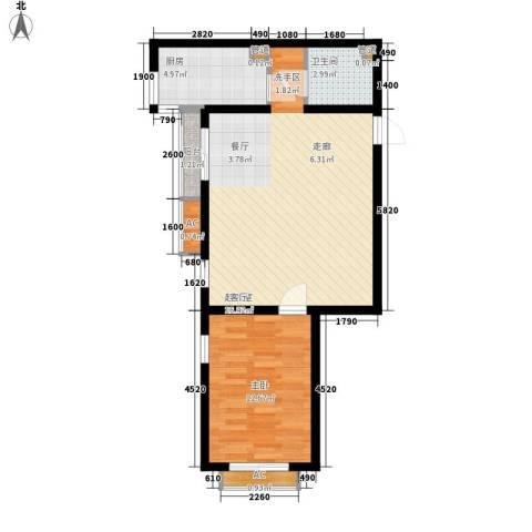 珠江峰景1室0厅1卫1厨75.00㎡户型图