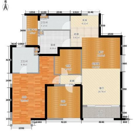 皇都花园2期3室0厅2卫1厨145.28㎡户型图