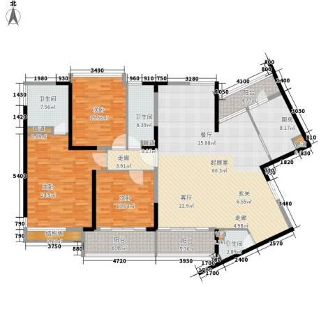 皇都花园2期3室0厅3卫1厨183.72㎡户型图