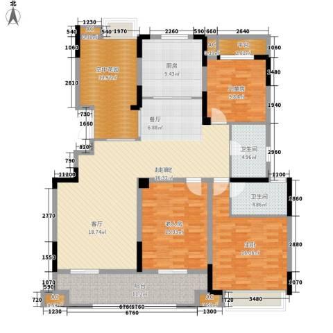 虎豹郡王府3室0厅2卫1厨150.00㎡户型图