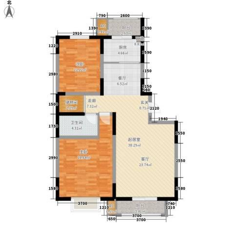 天赐园(和平区)2室0厅1卫1厨120.00㎡户型图