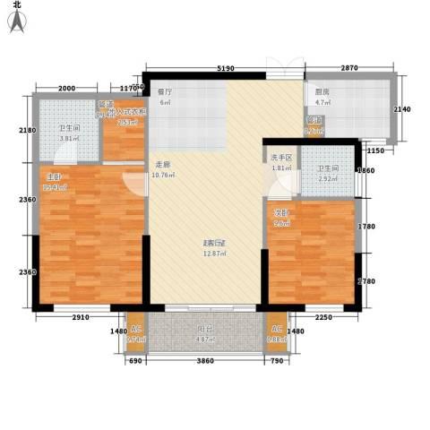 万科四季花城・中央公园2室0厅2卫1厨145.00㎡户型图
