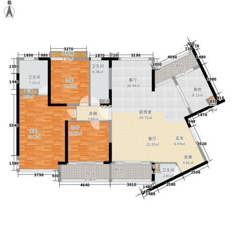 皇都花园2期3室0厅3卫1厨183.00㎡户型图