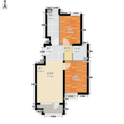 裕祥园2室0厅1卫1厨87.00㎡户型图