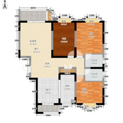 新港名都花园3室0厅2卫1厨116.00㎡户型图
