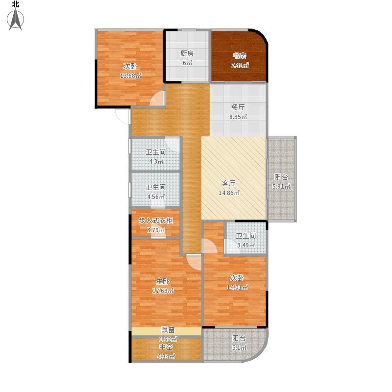 融信蓝孔雀139平四室两厅三卫