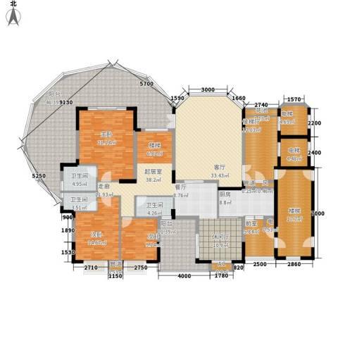 金龙国际花园3室1厅3卫1厨345.00㎡户型图
