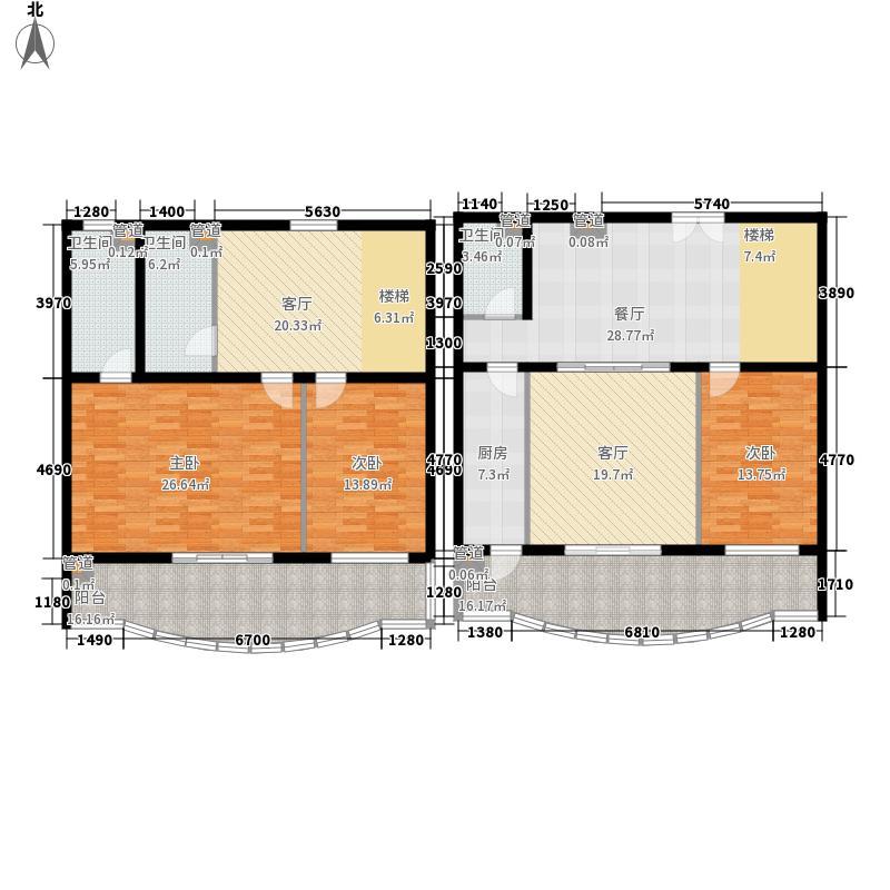 盛和家园202.26㎡跃层户型3室3厅3卫1厨
