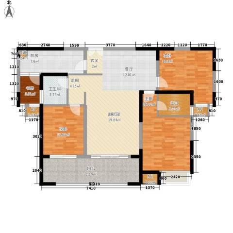 金科新大陆4室0厅1卫1厨129.00㎡户型图