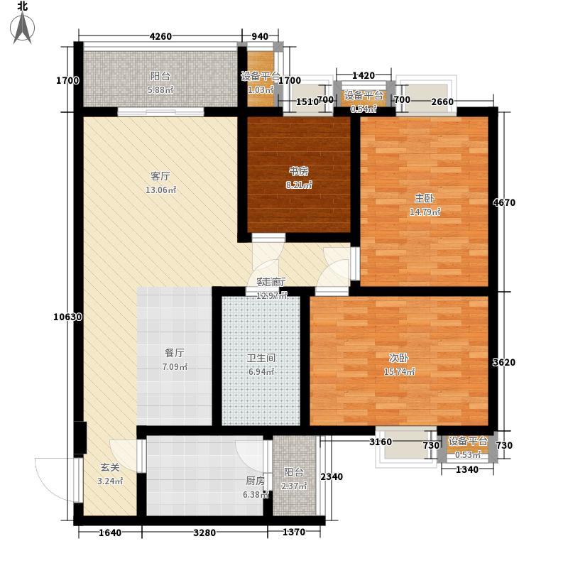 琥珀中村115.00㎡琥珀中村3室户型3室