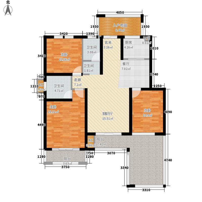上城国际二期花园洋房三层E户型