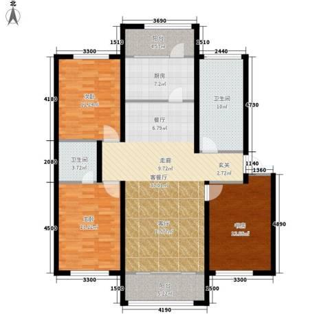 望云山景3室1厅2卫1厨134.00㎡户型图