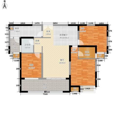 金科新大陆3室0厅1卫1厨125.00㎡户型图