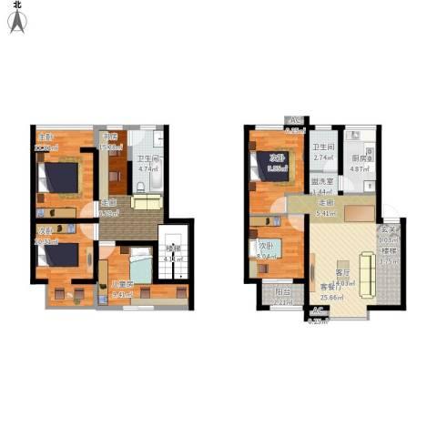 长青湖茶花小镇6室1厅2卫1厨154.00㎡户型图