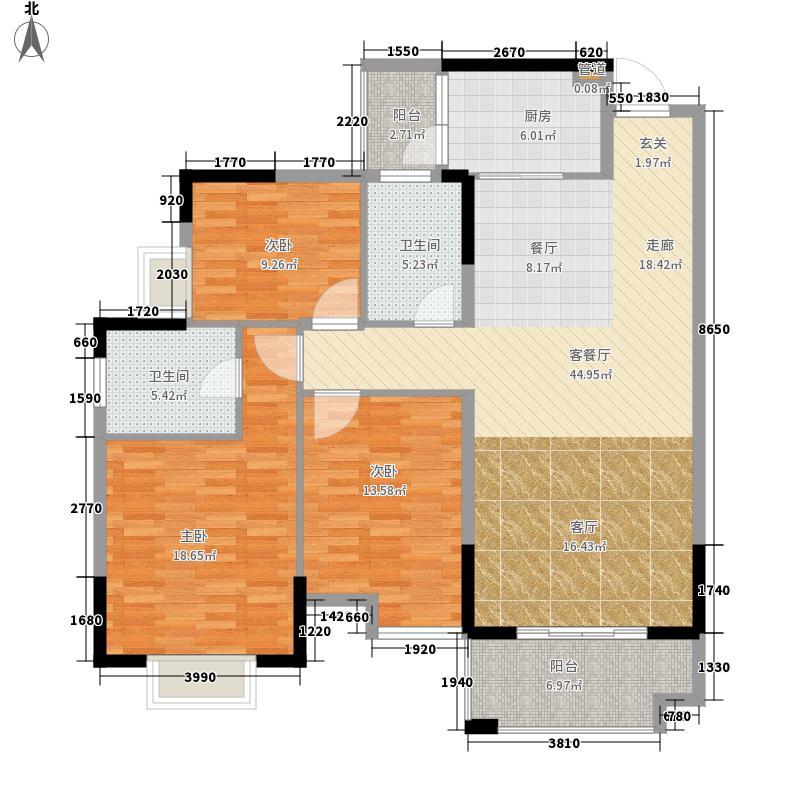 瑞海豪庭140.00㎡瑞海豪庭3室户型3室