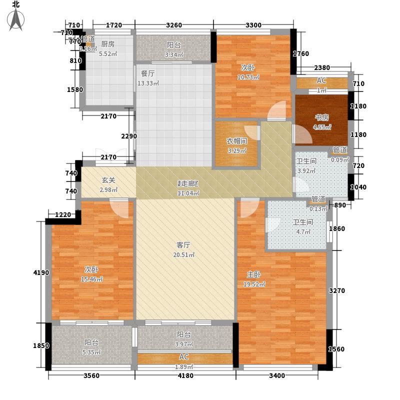 融侨锦江164.00㎡融侨锦江户型图T18栋164平米户型4室2厅2卫1厨户型4室2厅2卫1厨