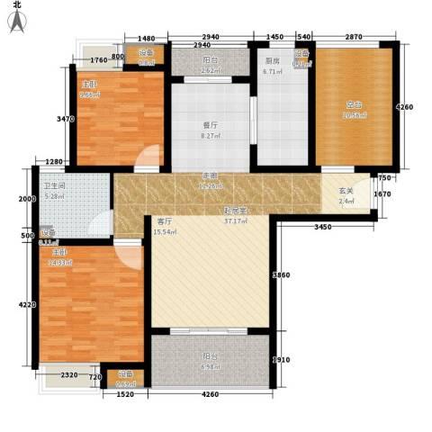 雨润新城2室0厅1卫1厨105.00㎡户型图