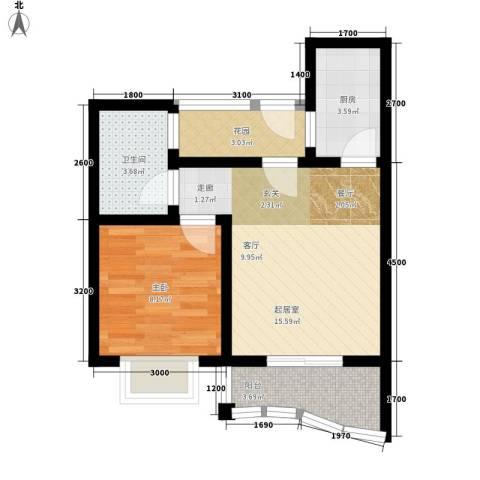 公园壹号1室0厅1卫1厨53.00㎡户型图