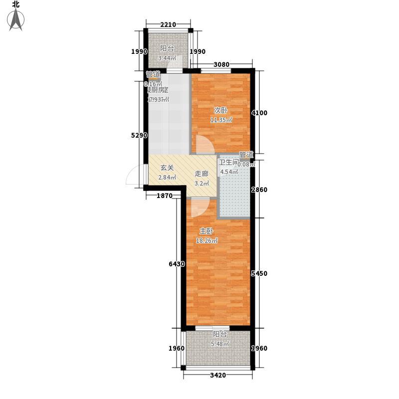 熙郡印象65.44㎡熙郡印象户型图D15-1户型2室1厅1卫1厨户型2室1厅1卫1厨