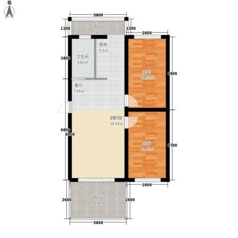 大将作2室0厅1卫0厨110.00㎡户型图