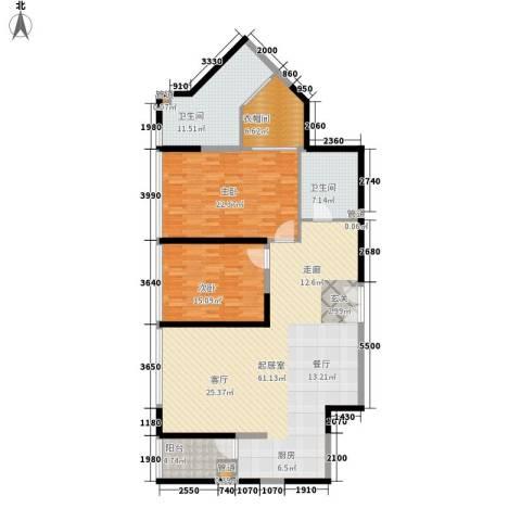 皇都花园2期2室0厅2卫0厨142.86㎡户型图